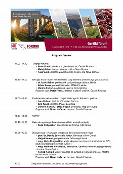 Goriški forum - program